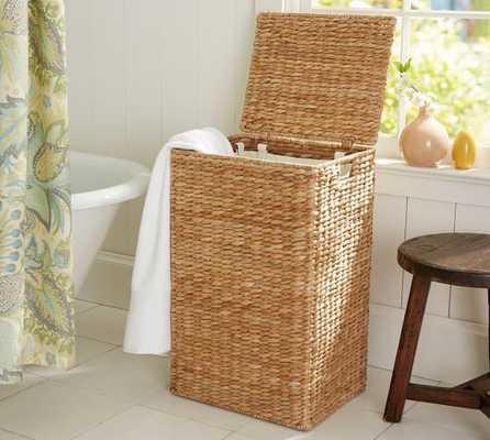 Perry Hamper & Liner- Savannah Weave - Pottery Barn