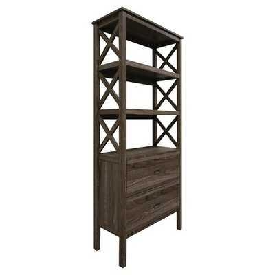 Bookcase Brown 3 Shelf - Target