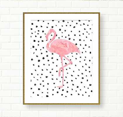 "Flamingo Art Print - 8"" x 10"" - Unframed - Etsy"