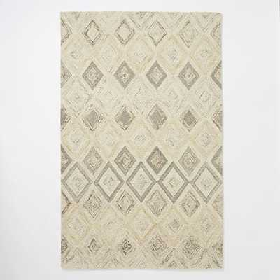 Prism Wool Rug - Soot - 8' x 10' - West Elm