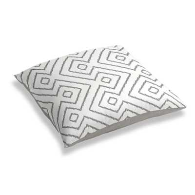SIMPLE FLOOR PILLOW | in optrix - ash - 28x28 - Poly Insert - Loom Decor