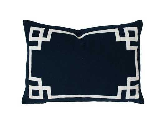"Navy Deco Pillow - 14""x20"" -Cover Only - Caitlin Wilson"