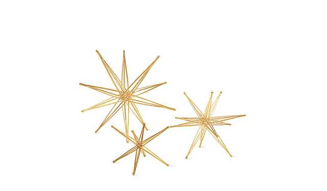 """Foldable Star Sculptures 9"""" Six Axis star - Design Within Reach"""