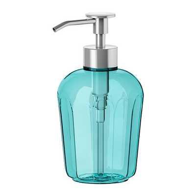 SVARTSJÖN Soap dispenser, turquoise - Ikea