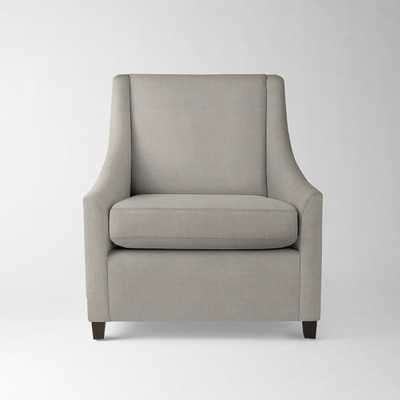 Sweep Armchair-Basketweave- Putty Gray - West Elm