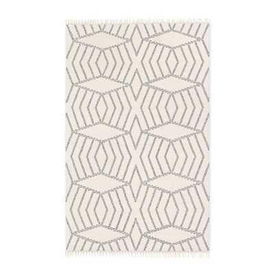 Diamond Stripe Wool Dhurrie - 5'x8' - West Elm