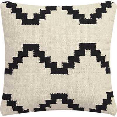 "Zbase 16"" pillow - Solid ivory - Down-alternative insert - CB2"