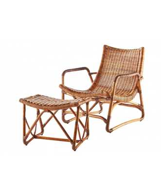 BRIDGID LOUNGE CHAIR, CHESTNUT - Lulu and Georgia