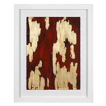 Crimson Cavern 3 - 24.75''W x 30.75''H  - Framed (White) - Z Gallerie