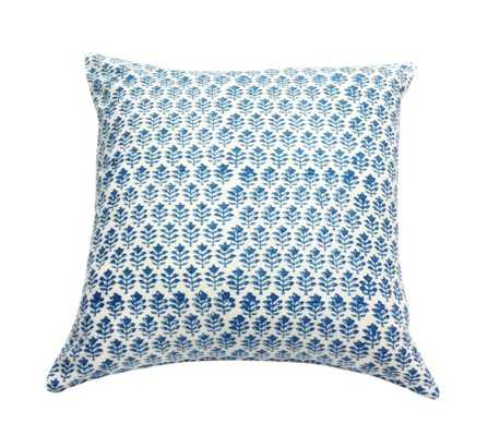 Provence Blue Pillow - Insert sold separately - Domino