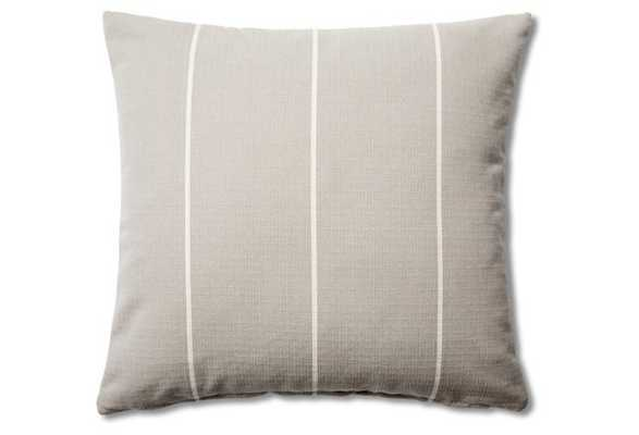 Striped 20x20 Cotton Pillow, Gray-with insert - One Kings Lane