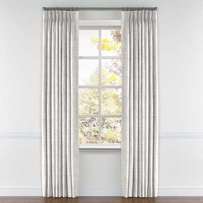 """White & Gray Marled Pinch Pleat Curtain - Cotton Lining, 108"""" - Loom Decor"""
