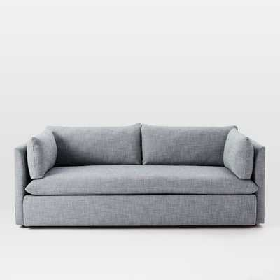 Shelter Sofa - Shelter Blue- Yarn Dyed Linen Weave - West Elm