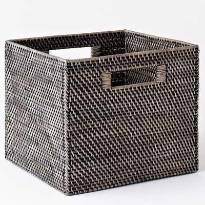 Modern Weave Storage Bin - Blackwash - West Elm
