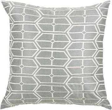"""Garrick Pillow -Silver/White-  18"""" x 18"""" -  Polyester fill insert. - Home Depot"""