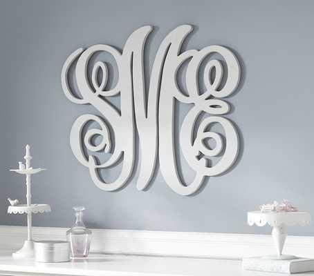 Harper Personalized Monogram Letters - White - Pottery Barn Kids
