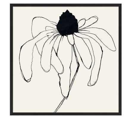 "Picked Daisy Print - 29""x29"" - Matte Black Frame- No mat - Pottery Barn"
