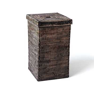 Modern Weave Tall Basket-Blackwash - West Elm