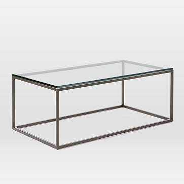 Box Frame Coffee Table, Glass Top - Domino