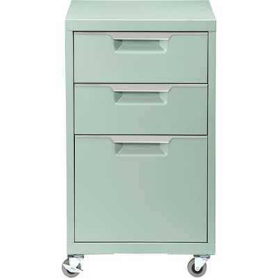 TPS mint 3-drawer filing cabinet - CB2
