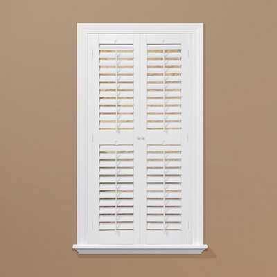 Plantation Faux Wood White Interior Shutter - Home Depot
