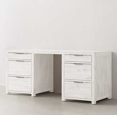 LAGUNA STORAGE DESK-Whitewashed Natural - RH Teen