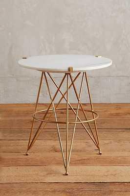 Betelline Side Table - White - Anthropologie