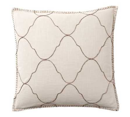 Tile Embroidered Pillow Cover - No Insert - Pottery Barn