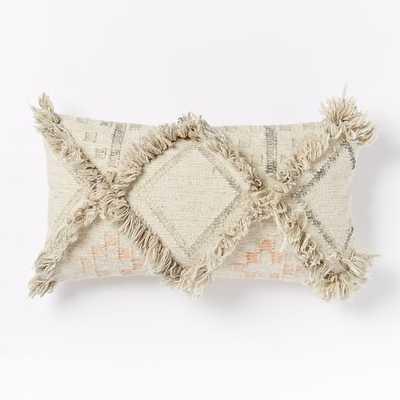 "Shag Diamond Pillow Cover - 14"" x 26"" - Insert Sold Separately - West Elm"