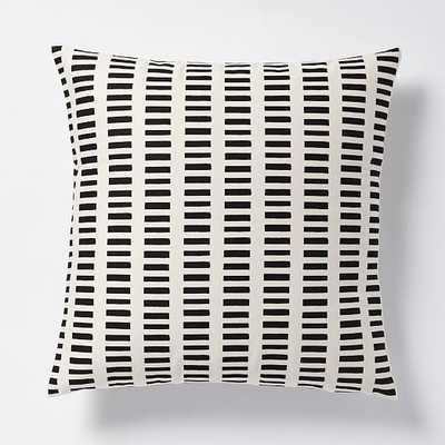 """Dusen Dusen Pillow - Black- 20"""" sq- Insert sold separately - West Elm"""