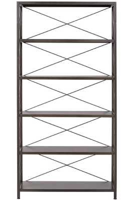 Ryan Metal Bookcase - 5-Shelf - Home Depot