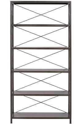 Ryan Metal Bookcase - 5-Shelf - Home Depot
