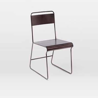 Bent Metal Dining Chair - Gunmetal - Individual - West Elm