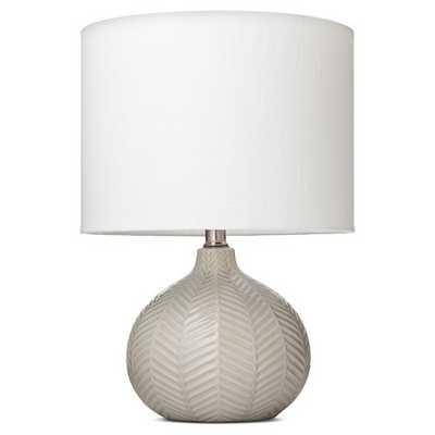 Herringbone Ceramic Table Lamp - Cream - Threshold™ - Target
