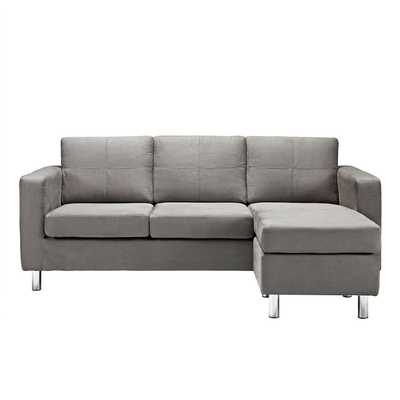 Modern Small Space Sectional Sofa with Reversible Chaise - Overstock