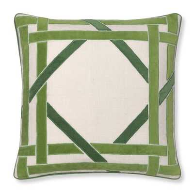"Cane Velvet Applique Pillow Cover - 20"" x 20"" - Insert not included - Williams Sonoma Home"