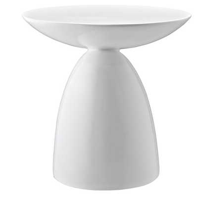 FLOW SIDE TABLE IN WHITE - Modway Furniture