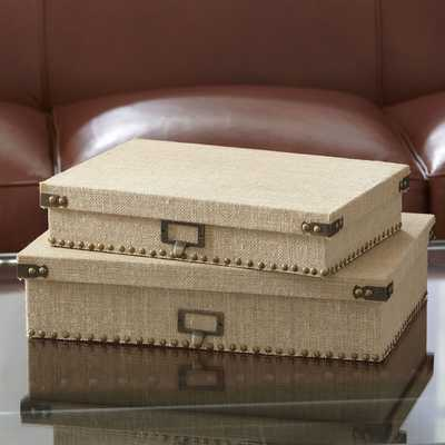 Ravenna Document Boxes - Set of 2 - Birch Lane