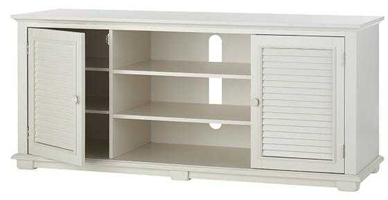 Shutter TV Stand - White - Home Decorators