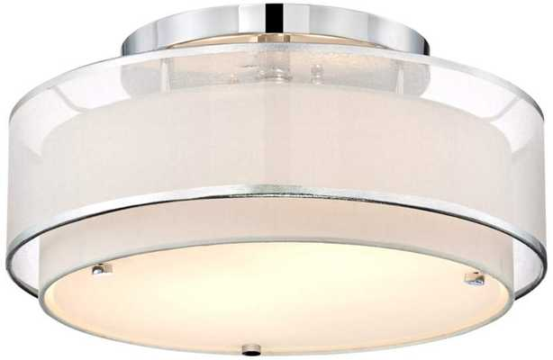 "Possini Euro Design Double Organza 16"" Wide Ceiling Light - Lamps Plus"