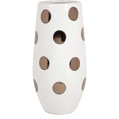 Metallic Polka Dot Vase - Overstock