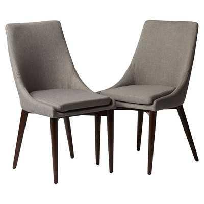 Bedoya Parsons Chair - Set of 2 - Grey - Wayfair