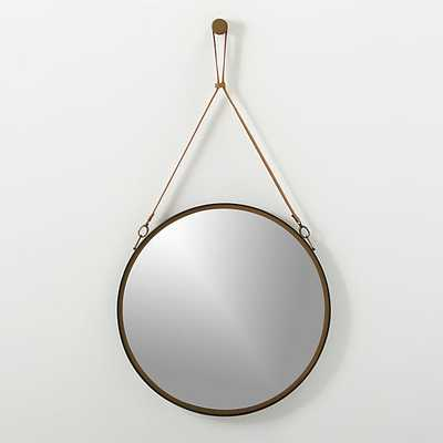 Victor leather mirror - CB2