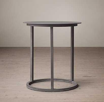 "MERCER ROUND SIDE TABLE - Zinc - 24""diam. - RH"