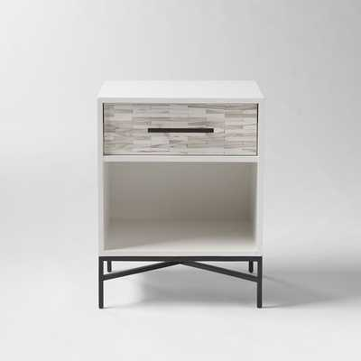 Wood Tiled Nightstand - West Elm