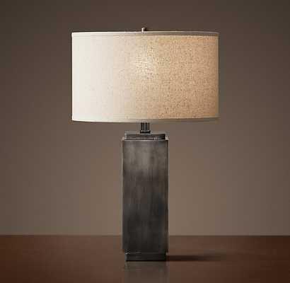 SQUARE COLUMN ACCENT LAMP - Antique Silver - RH
