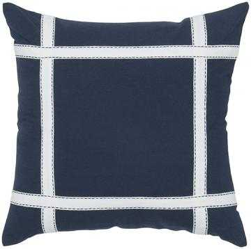"FRESH AIR DECORATIVE PILLOW - 18""Hx18""W - Navy - Poly insert - Home Decorators"