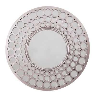 Diamond Wall Mirror - Light Pewter - Wayfair