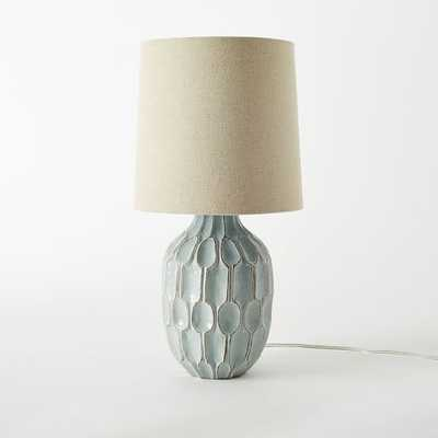 Linework Table Lamp - Blue - West Elm