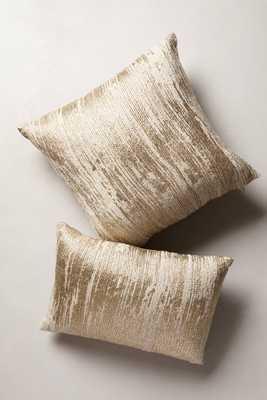 "Plaited Metallics Pillow-20""Sq, Gold, Polyfill - Anthropologie"